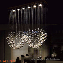 Fancy hanging antique modern kitchen crystal pendant light 92003